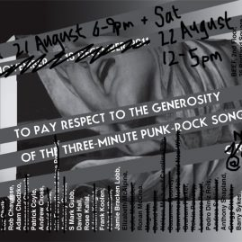TO PAY RESPECT TO THE GENEROSITY OF THE THREE-MINUTE PUNK-ROCK SONG PT.2: RE-EDIT