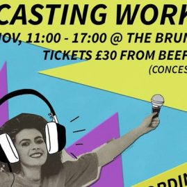 PODCASTING WORKSHOP – Sunday 12th November